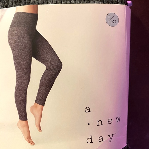 A New Day Fleece-Lined Leggings Ribbed High Waist